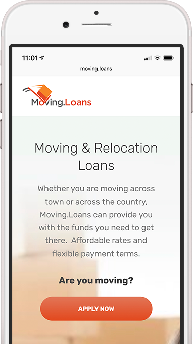 Apply for a moving loan right from your phone